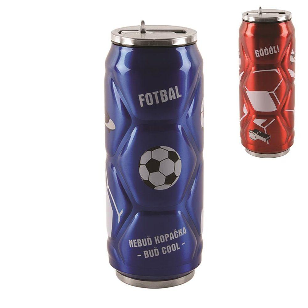 Termoska-plechovka ner. 0,5l fotbal - ORION domácí potřeby