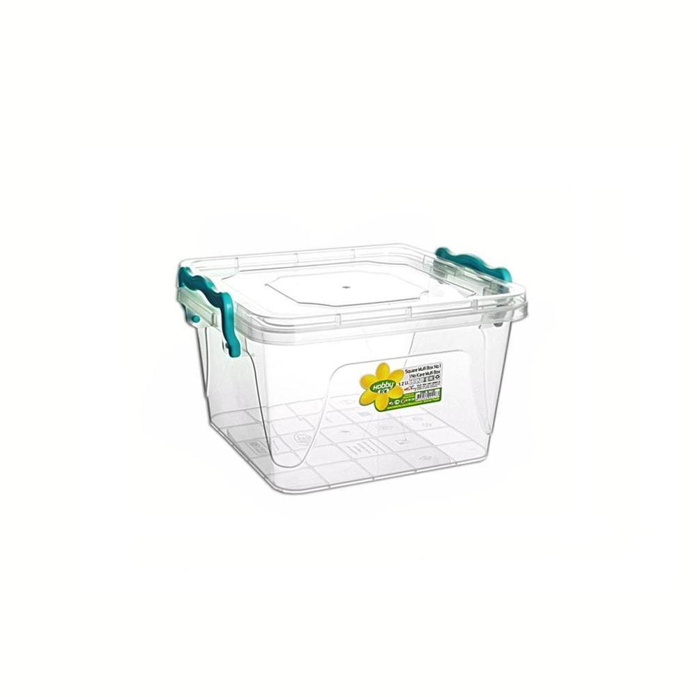 Box plast multi čtverec nízký 1,2 l - ORION domácí potřeby