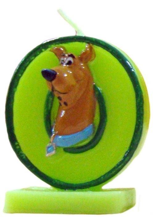 Narozeninová svíčka na dort Scooby Doo - číslo 0 - Arpex