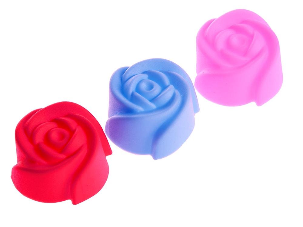 Silikonové formičky na muffiny 10 ks květ