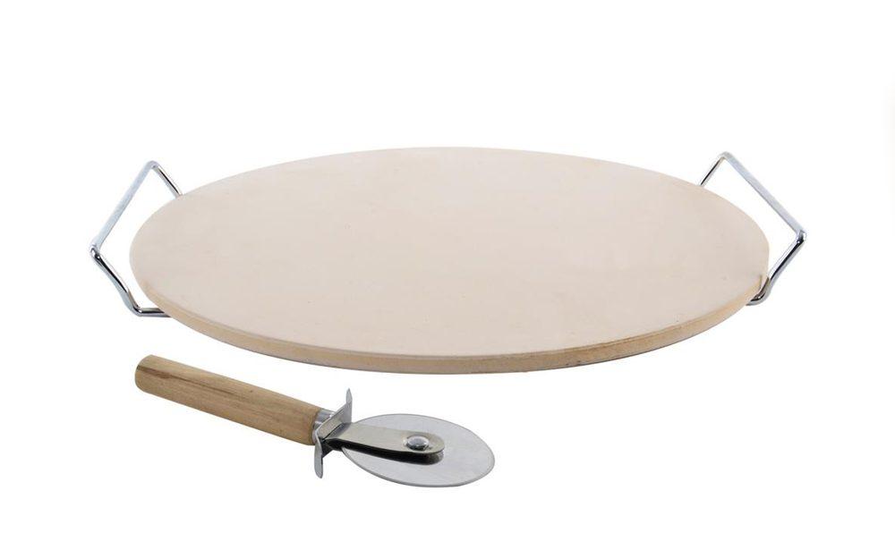 Pizza set - kameninový podnos + kráječ - ORION domácí potřeby