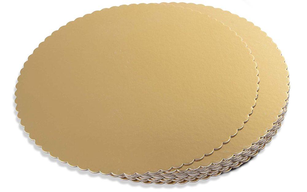Dortová podložka zlatá kruh 30 cm - Artigian