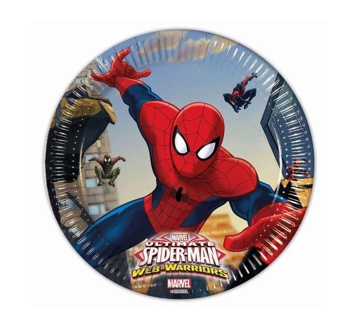 """Papírový talíř """"Ultimate Spiderman"""", 20 cm, 8 ks - GoDan"""