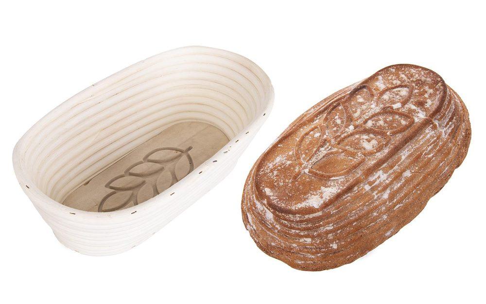 Pedigová ošatka oválná Klas - 26x13x9 cm - 1 kg chleba -