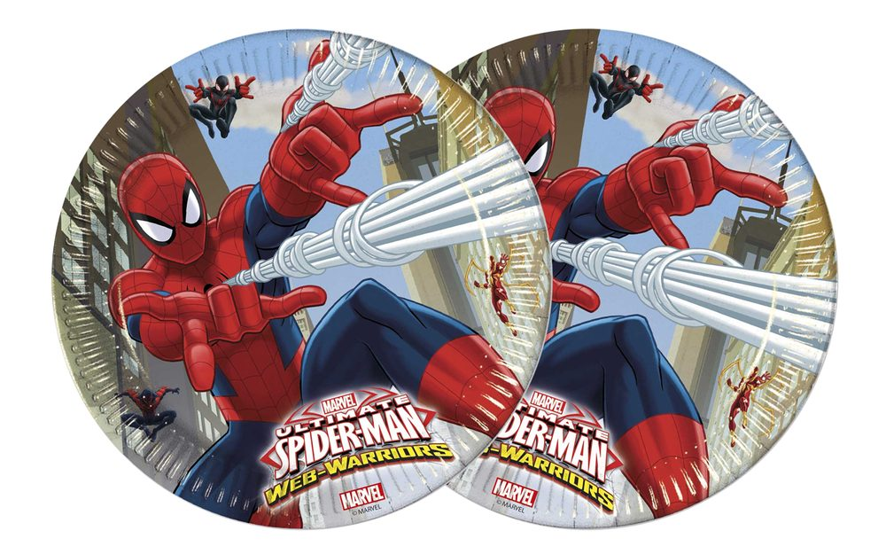 Talíře Ultimate Spiderman - 23 cm, 8 ks - GoDan