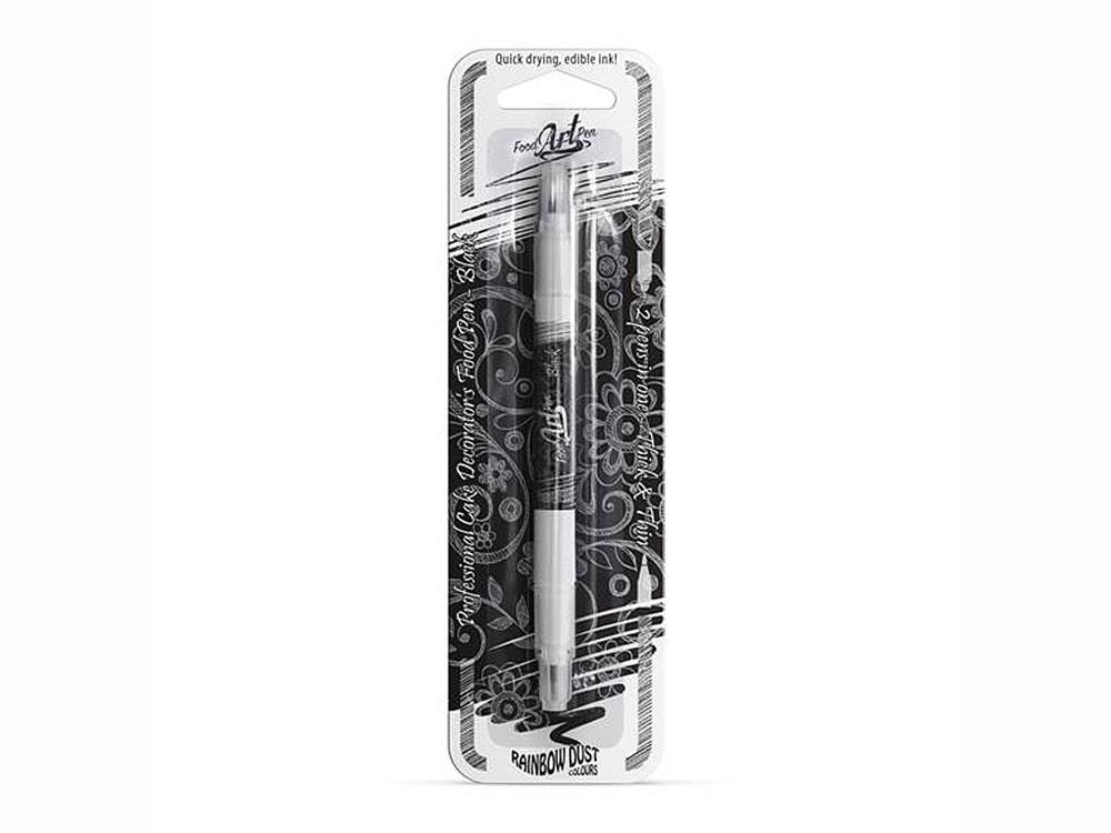 Jedlý fix černý oboustranný (Food Art Pen - Black) - Rainbow Dust