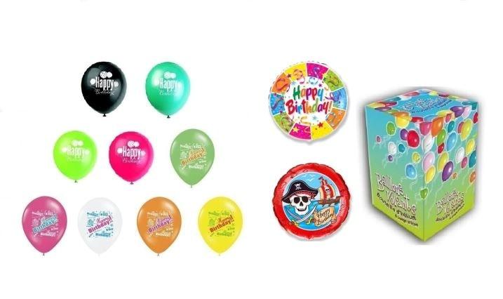 Helium na plnění balonků + narozeninové balónky - 420 l - BALLONPUB