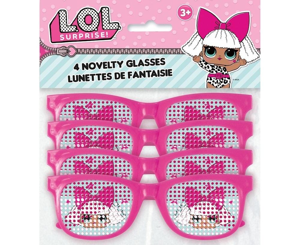 Děrované brýle LOL Surprise - 4 ks - UNIQUE