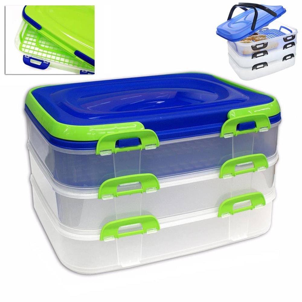 Piknikový box, 3patrový - ORION domácí potřeby