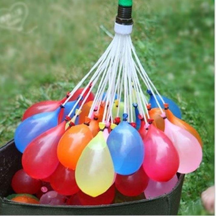 YIWU1 VODNÍ BOMBY - vodní balónky - 3 svazky - 111 balónků
