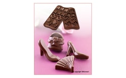 Silicone chocolate moulds on a sheet - Fashion