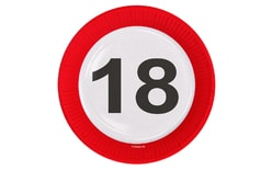 Plates traffic sign 18, 23 cm 8 pcs