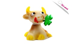 Cow - marzipan cake topper