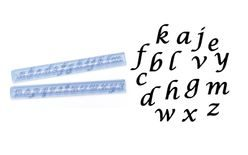 Cutter Alphabet italics lower case