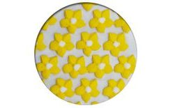 Sugar decoration - Dahlias 28 pc. yellow