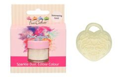 FunCakes Edible FunColours Sparkle Dust - Shimmering Gold
