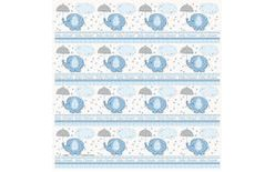 Baliaci papier umbrellaphants Baby shower- Chlapček / Boy 76 cm x 154 cm