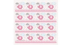 Baliaci papier umbrellaphants Baby shower Dievča / Girl 76 cm x 154 cm