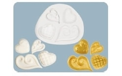 Silicone mould Fancy Hearts