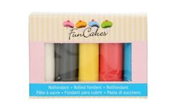 FunCakes Rolled Fondant Multipack Primary Colours 5x100g