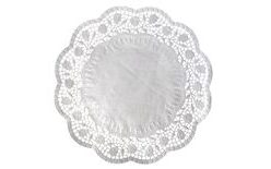 Paper lace cake doily 26 cm/100 pc. per pack
