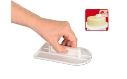 Smoother (polisher) for marzipan and fondant curved top