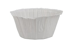 Baking cases for muffins self-supporting - white 50 pc.