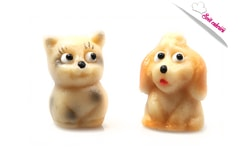 Doggie and Pussycat - mazipan figures for cakes
