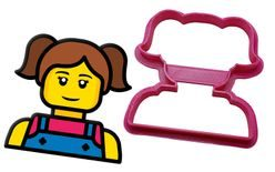 Cookie gingerberad cutter Lego Head Girl - 3D print