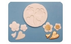 Silicone mould Hearts & Flowers