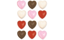 Chocolate moulds on a sheet hearts 12 pc.