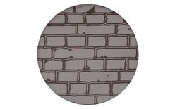 Impression and embossing mat Brick wall design