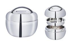 Stainless steel thermobowl 1 l Apple