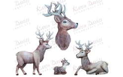 Szilikon forma - Moulds - Rustic Stag by Alice
