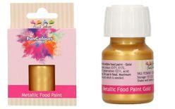 FunColours Metallic Food Paint Gold 30ml
