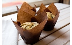 Muffin wrap tulip brown paper 10 pc.
