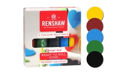 Colour rolled fondant set of basic colours