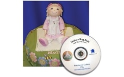 Patchwork baba (lány) Rag Doll + dvd