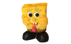 Spongebob wearing trousers - cake topper marzipan figure