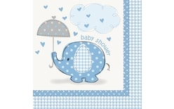 "Servítky umbrellaphants ""Baby shower"" - Chlapec / Boy 16 ks"