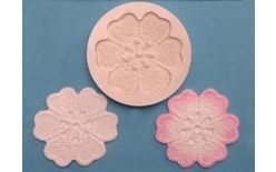 Silicone mould Lace Rose