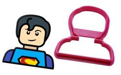 Cookie gingerbread cutter Lego Head Superman / Boy - 3D print