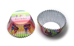 Foil Baking Cups Happy Birthday Party Hats Pk/30