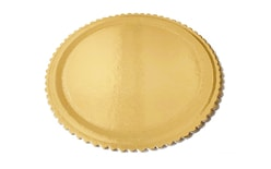 Cake board golden with a rim 24 cm