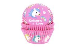 House of Marie Baking Cups Unicorn pk/50