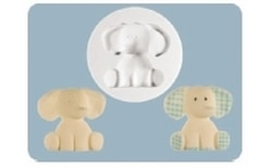 Silicone mould Nursery Elephant