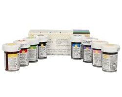 Set of eight basic gel paste colours from Wilton
