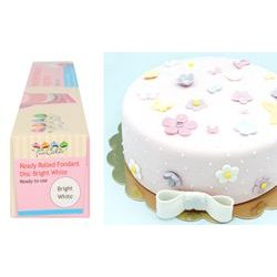 Ready Rolled Fondant Disc - Bright White - FunCakes