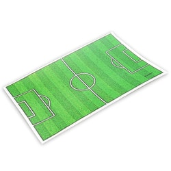 Edible paper football pitch