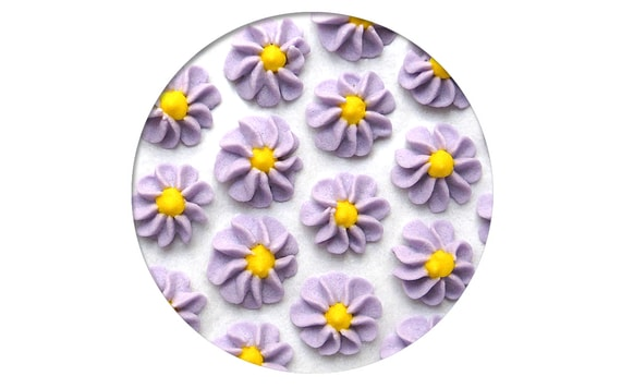 SUGAR DECORATION - GERBERAS 28 PC. LIGHT PURPLE